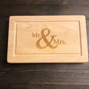 Mr. and Mrs. Decorative Cutting Board
